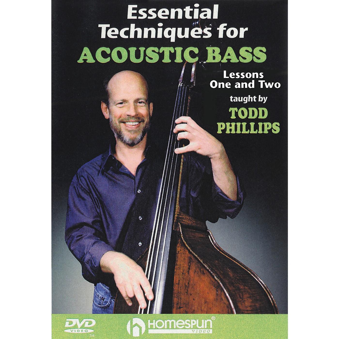 Homespun Essential Techniques for Acoustic Bass (DVD) thumbnail