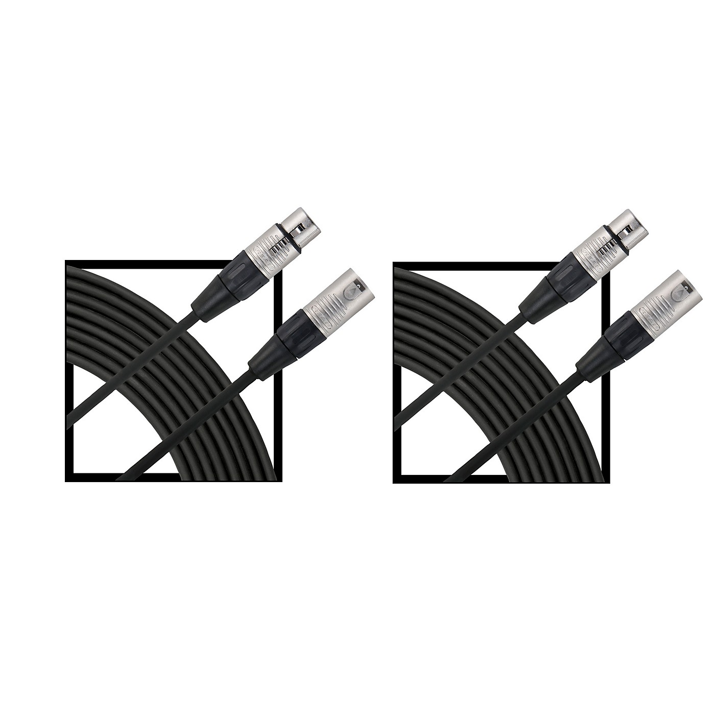 Livewire Essential XLR Microphone Cable Regular 25 ft. Black 2-Pack thumbnail