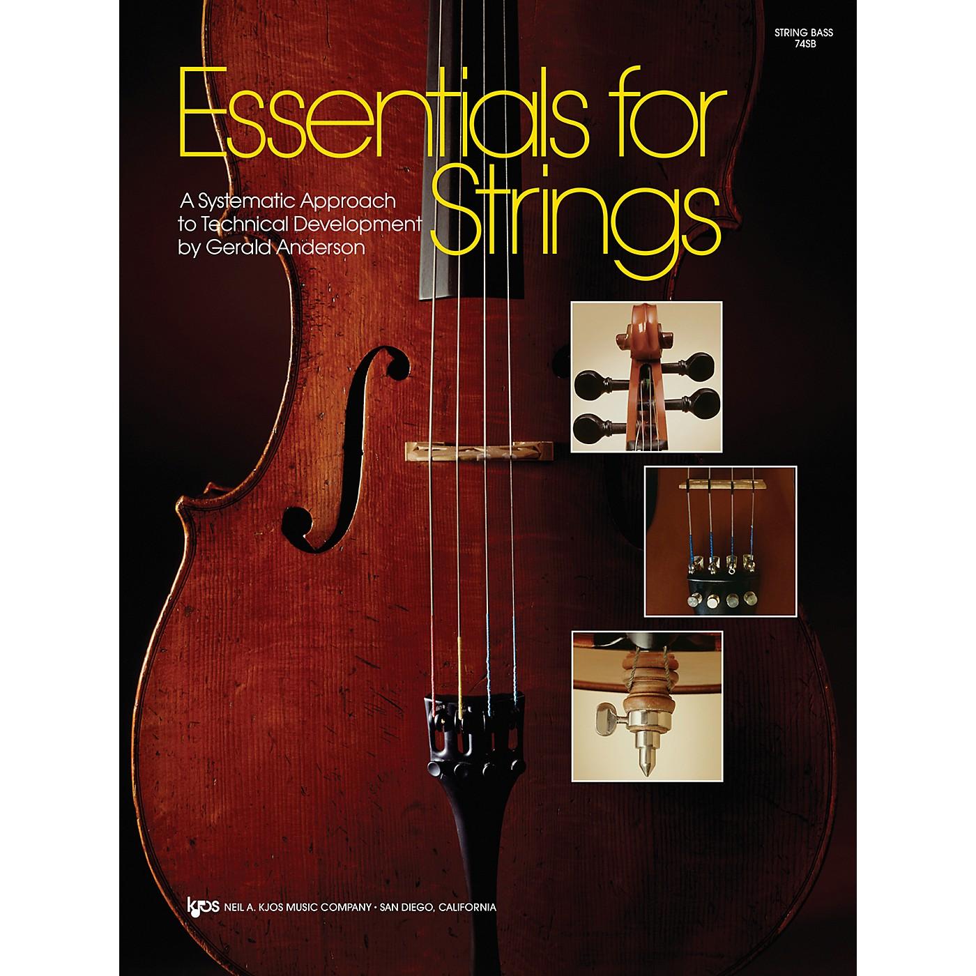 KJOS Essentials For Strings String Bass thumbnail