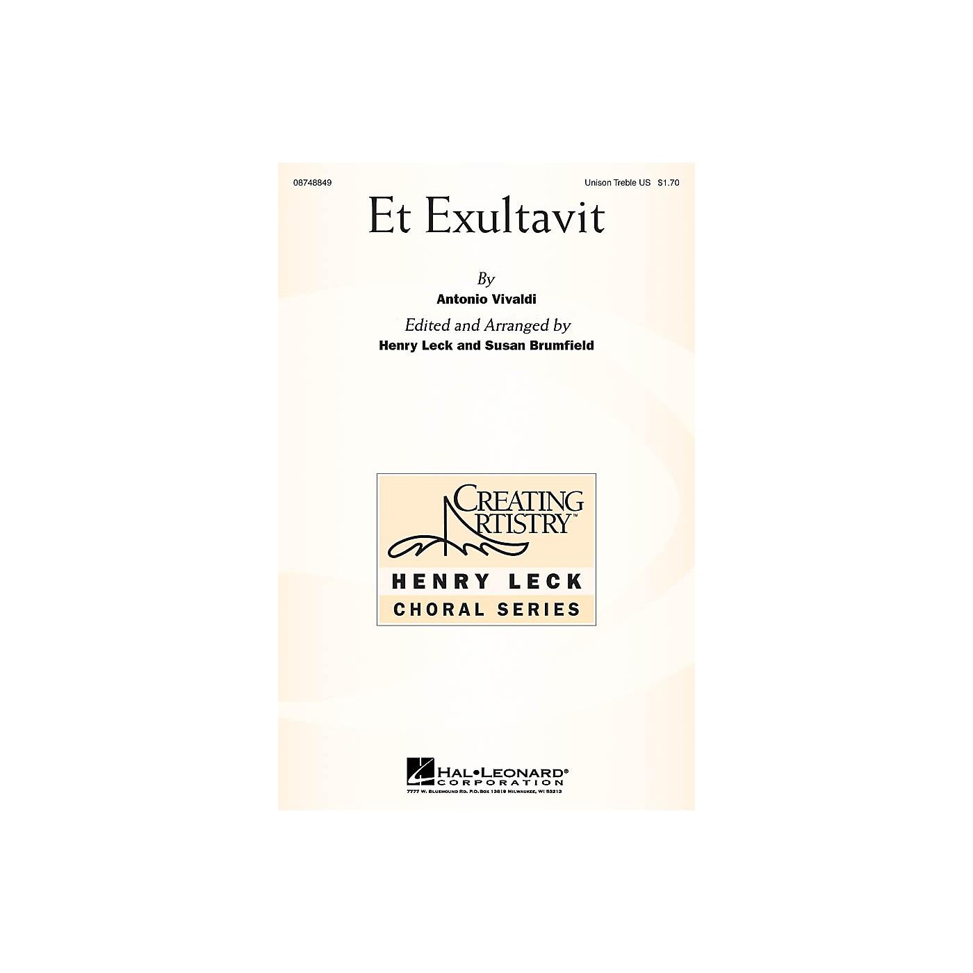 Hal Leonard Et Exultavit Unison Treble thumbnail