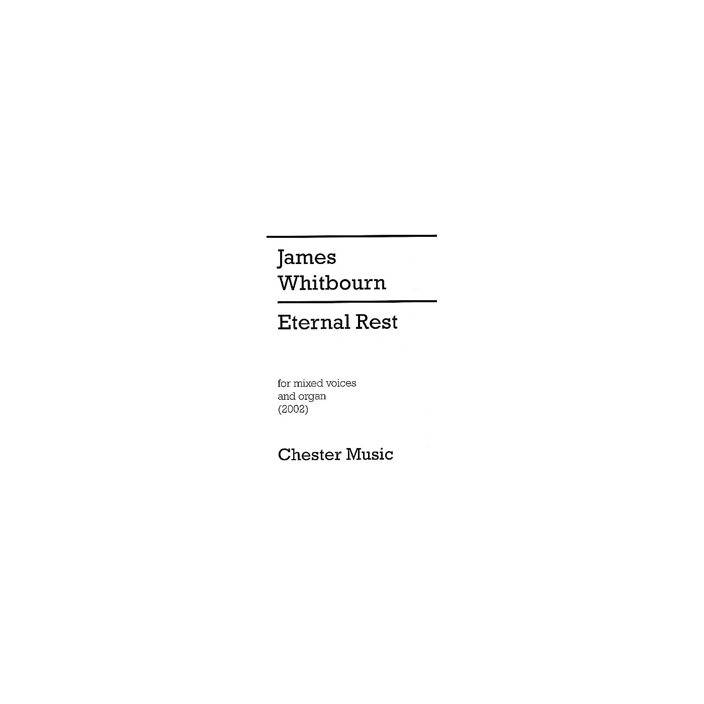 Chester Music Eternal Rest SATB thumbnail