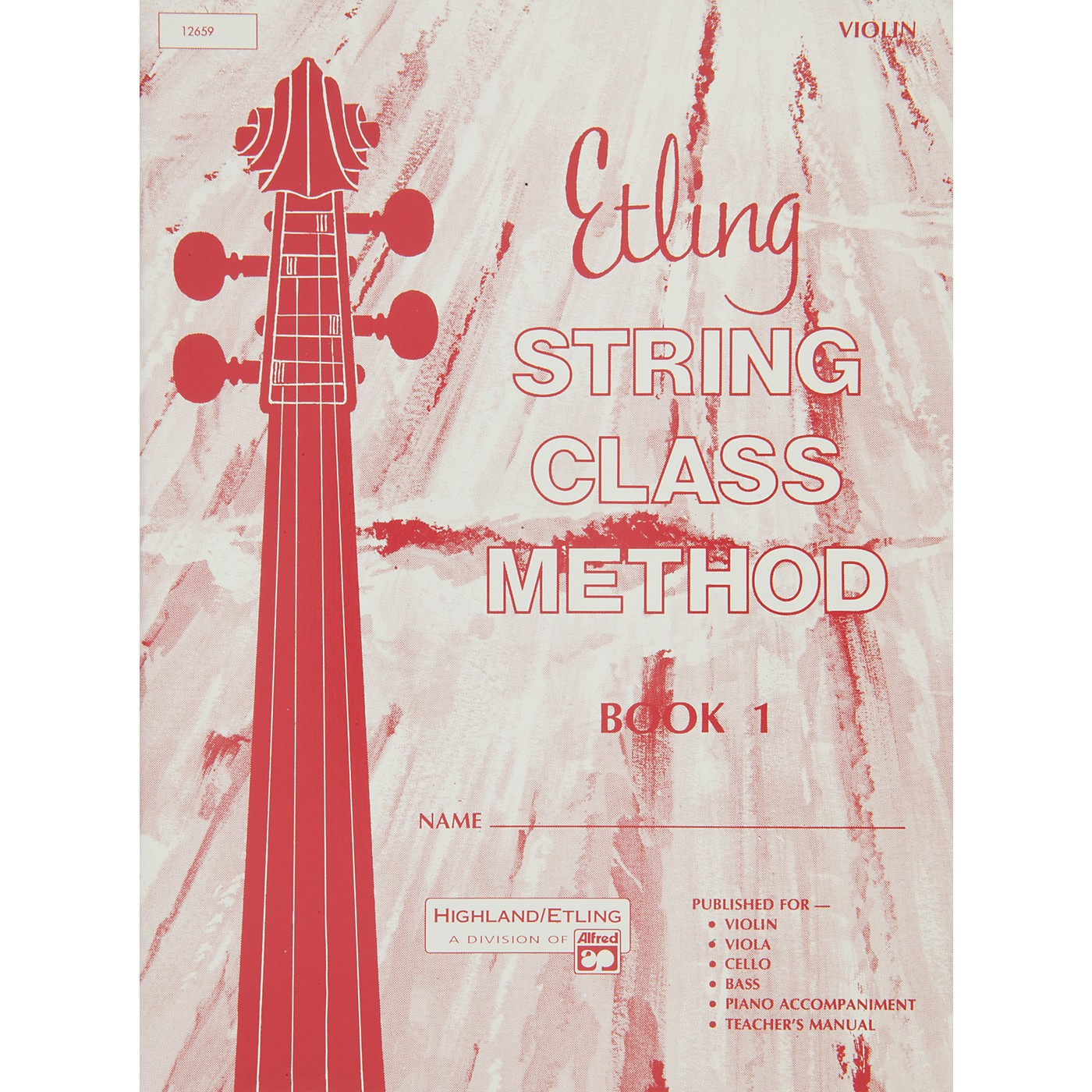 Alfred Etling String Class Method Book 1 Violin thumbnail