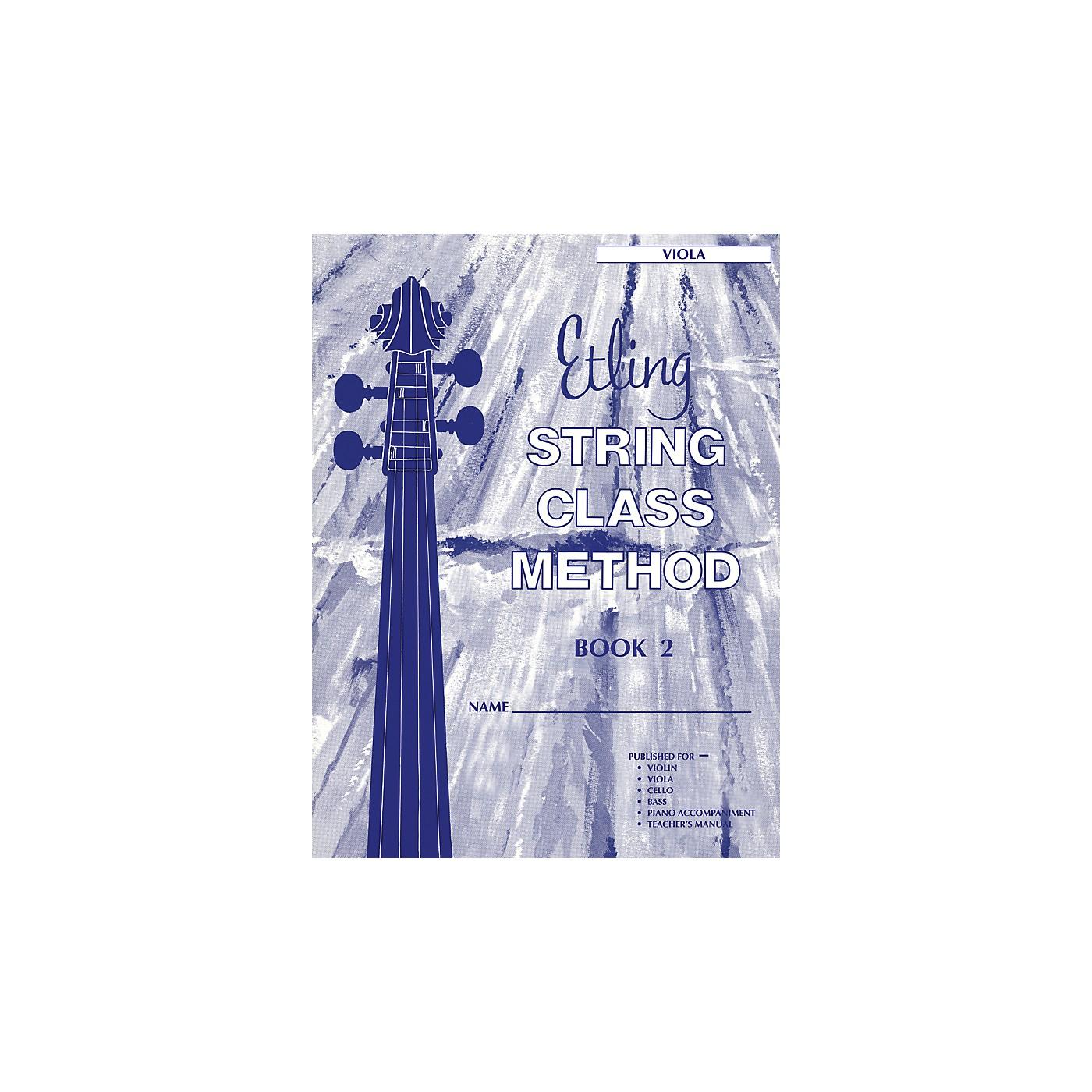 Alfred Etling String Class Method Book 2 Viola thumbnail