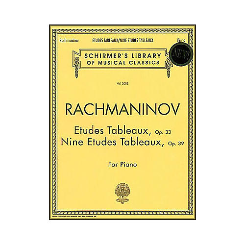 G. Schirmer Etudes Tableaux Op 33 & Op 39 Nine Etudes Tableaux Piano Centennial Edition By Rachmaninoff thumbnail