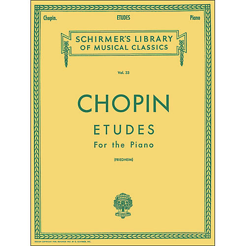G. Schirmer Etudes for Piano By Chopin thumbnail