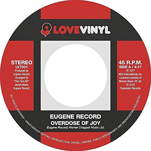 Alliance Eugene Record - Overdose Of Joy / I Want To Be With You thumbnail
