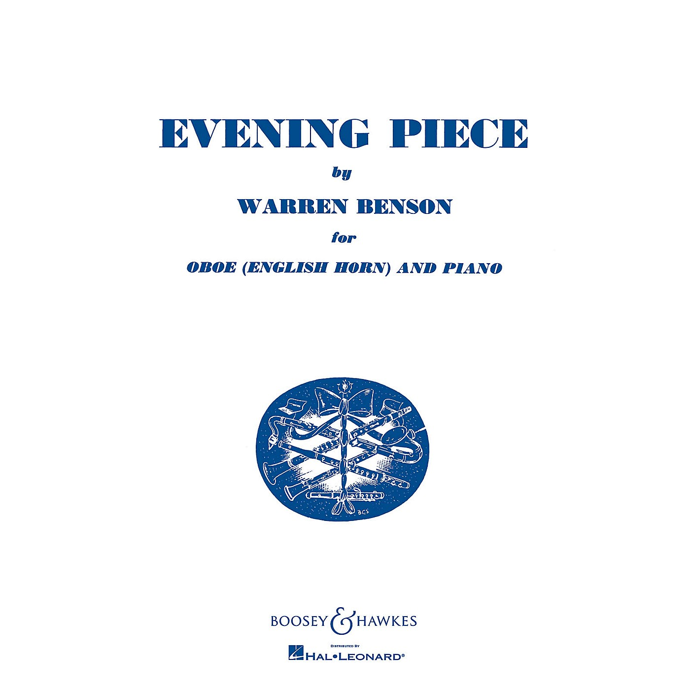 Boosey and Hawkes Evening Piece (for Oboe (English Horn) and Piano) Boosey & Hawkes Chamber Music Series by Warren Benson thumbnail