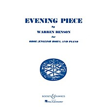 Boosey and Hawkes Evening Piece (for Oboe (English Horn) and Piano) Boosey & Hawkes Chamber Music Series by Warren Benson