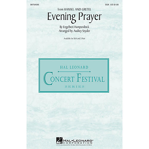 Hal Leonard Evening Prayer (from Hansel and Gretel) SSA arranged by Audrey Snyder thumbnail
