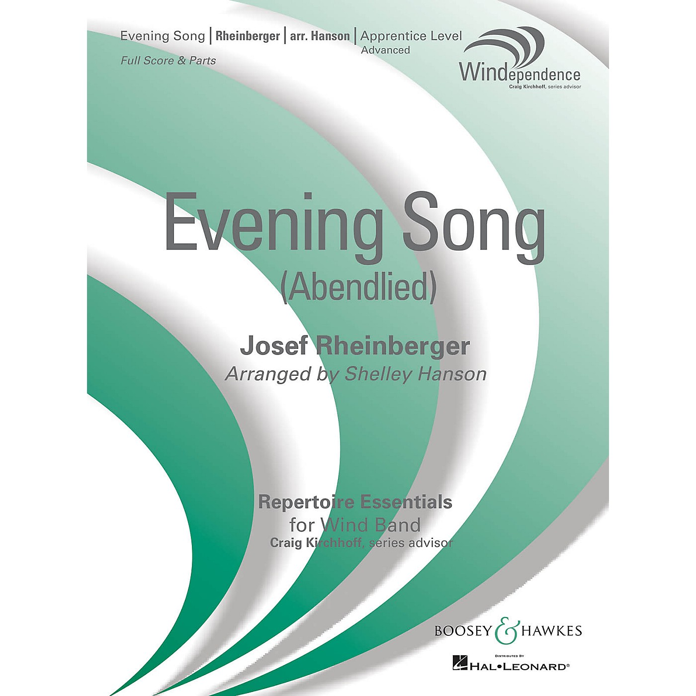 Boosey and Hawkes Evening Song (Abendlied) Concert Band Level 3 Composed by Josef Rheinberger Arranged by Shelley Hanson thumbnail