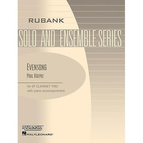 Rubank Publications Evensong (Three Bb Clarinets with Piano - Grade 2.5) Rubank Solo/Ensemble Sheet Series thumbnail