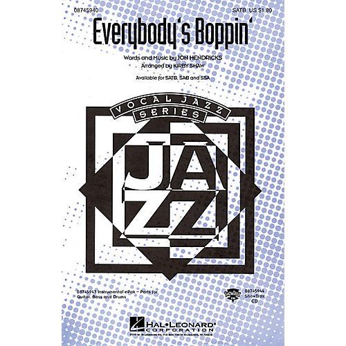 Hal Leonard Everybody's Boppin' SATB arranged by Kirby Shaw thumbnail
