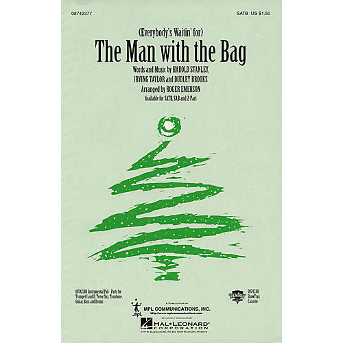 Hal Leonard (Everybody's Waitin' for the) Man with the Bag 2-Part Arranged by Roger Emerson thumbnail