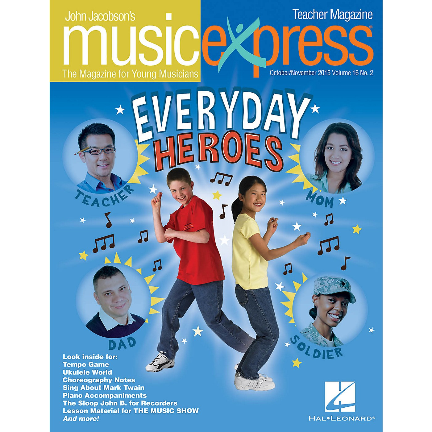 Hal Leonard Everyday Heroes Vol. 16 No. 2 Teacher Magazine w/CD by Elvis Presley Arranged by Roger Emerson thumbnail