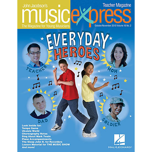 Hal Leonard Everyday Heroes Vol. 16 No. 2 Teacher Magazine w/CD by Elvis Presley Arranged by Roger Emerson thumbnail