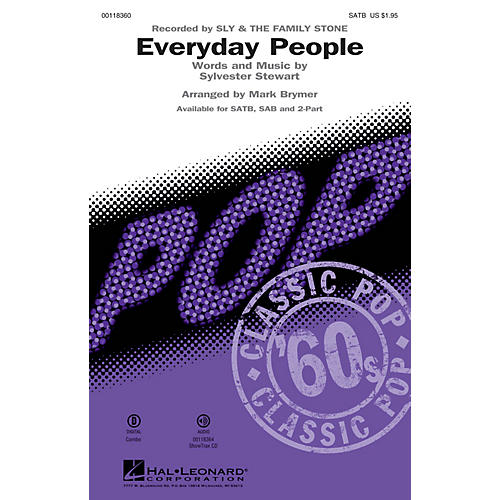 Hal Leonard Everyday People (2-Part Mixed) 2-Part by Sly and the Family Stone Arranged by Mark Brymer thumbnail