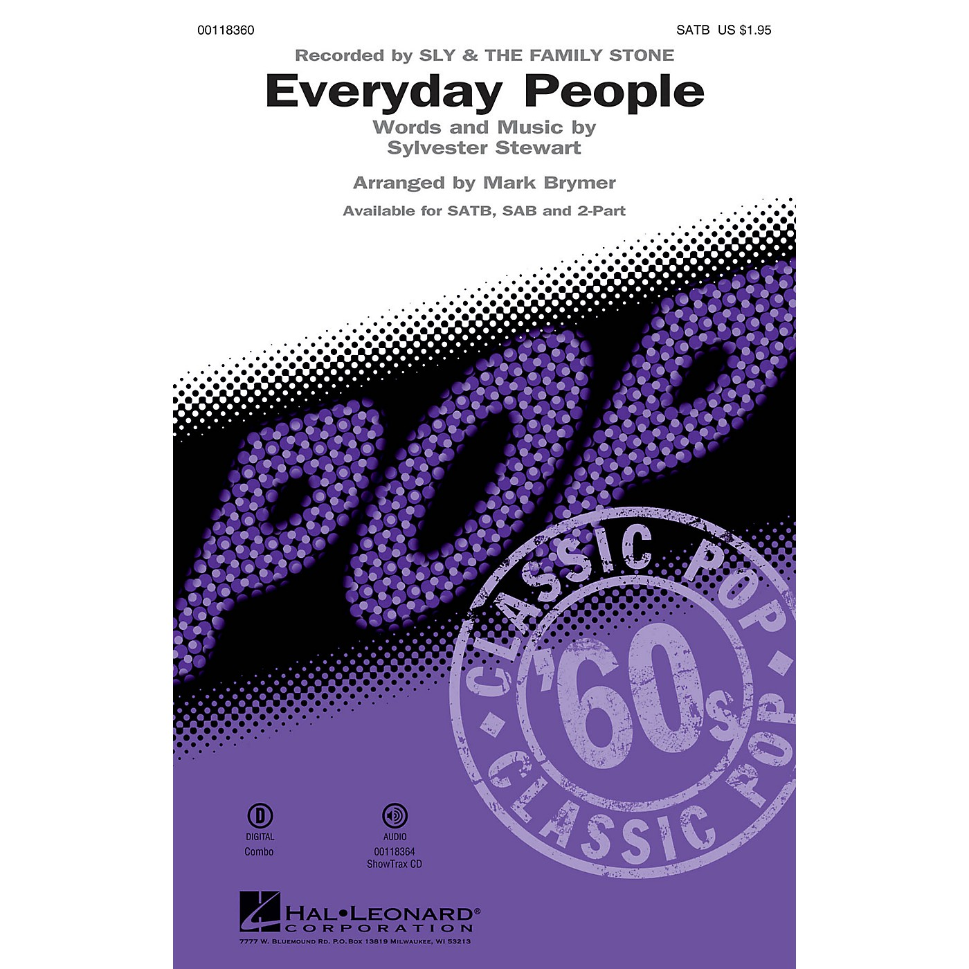 Hal Leonard Everyday People ShowTrax CD by Sly and the Family Stone Arranged by Mark Brymer thumbnail