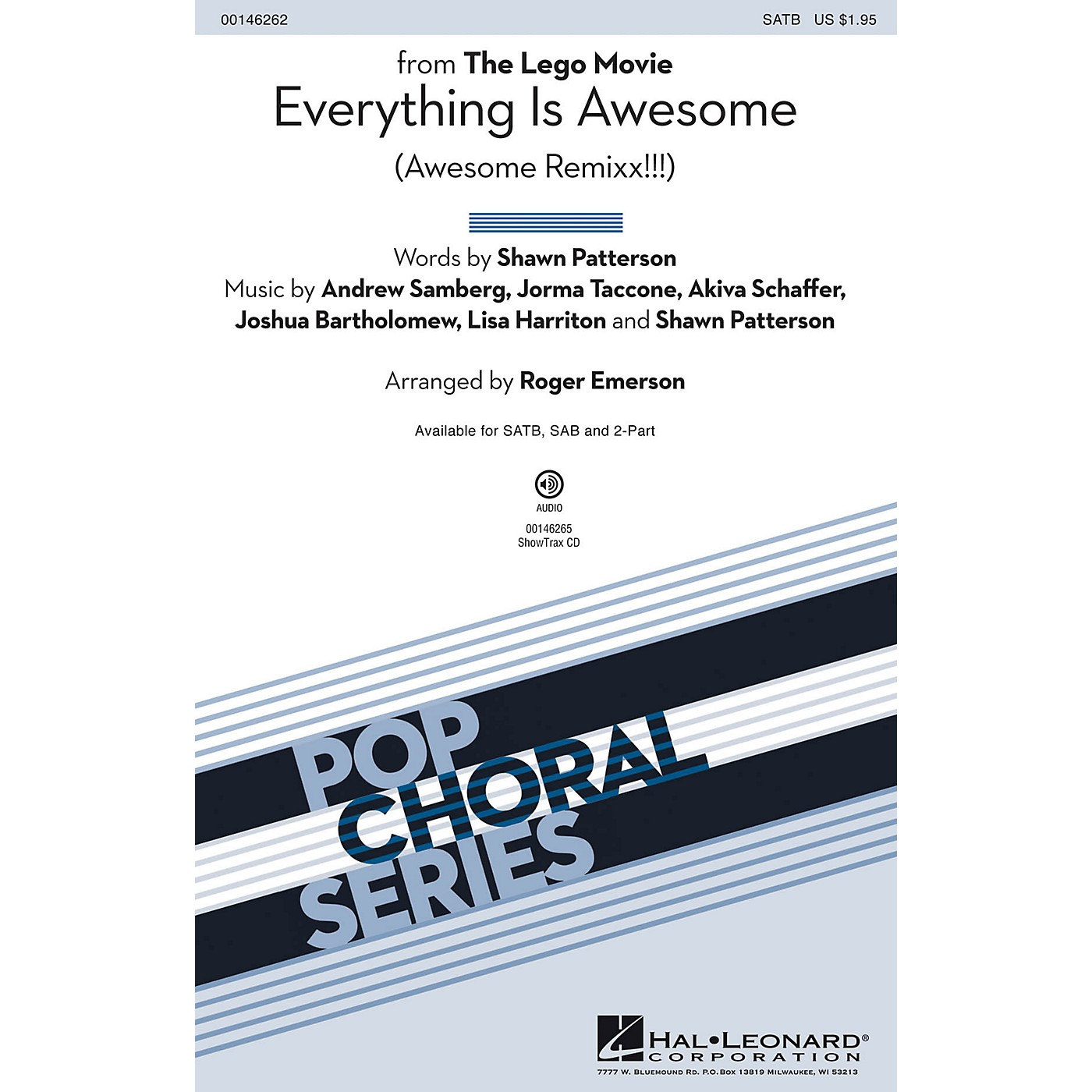 Hal Leonard Everything Is Awesome (from The Lego Movie) SATB arranged by Roger Emerson thumbnail