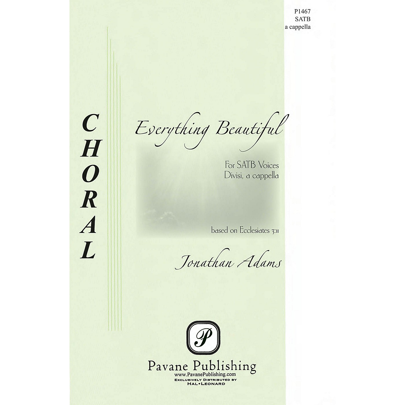 Pavane Everything Is Beautiful SATB a cappella composed by Jonathan Adams thumbnail