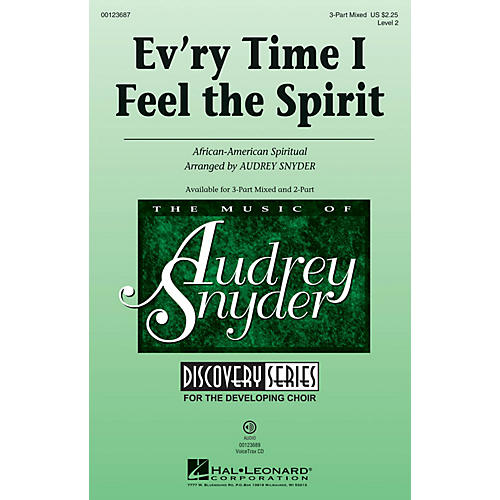 Hal Leonard Ev'ry Time I Feel The Spirit (Discovery Level 2) VoiceTrax CD Arranged by Audrey Snyder thumbnail