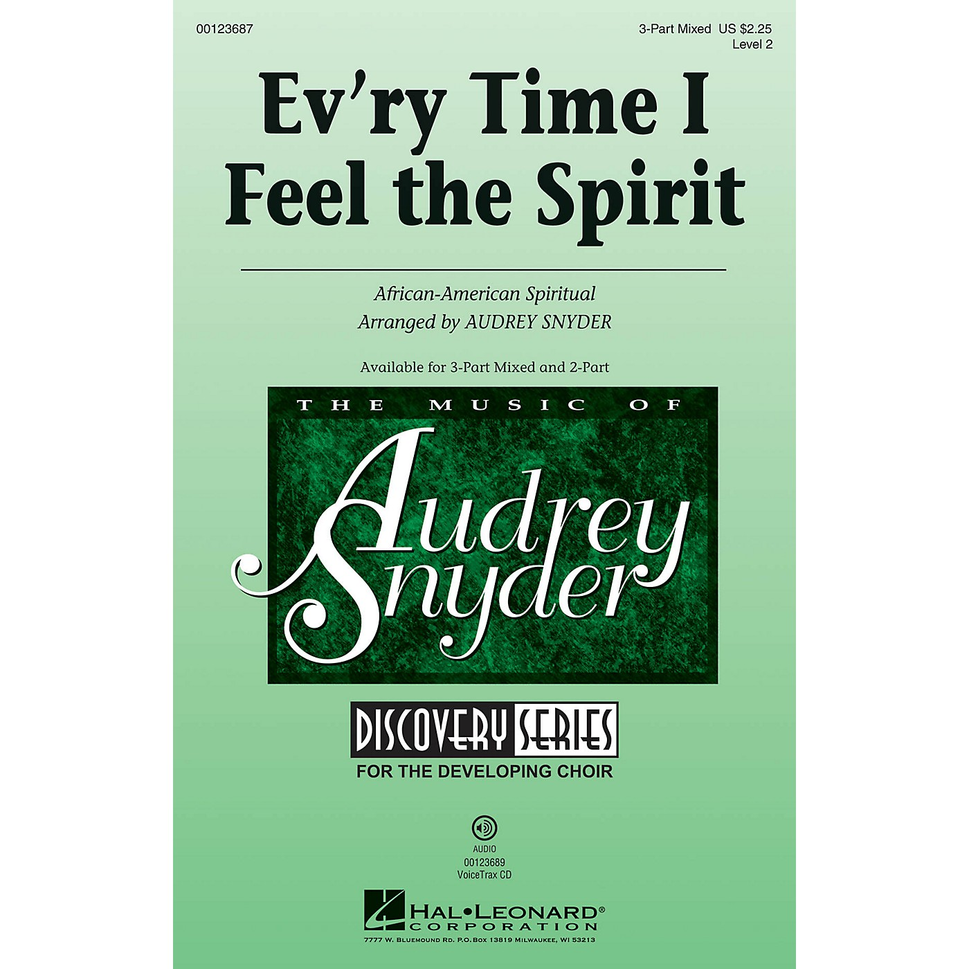 Hal Leonard Ev'ry Time I Feel the Spirit (Discovery Level 2) 3-Part Mixed arranged by Audrey Snyder thumbnail