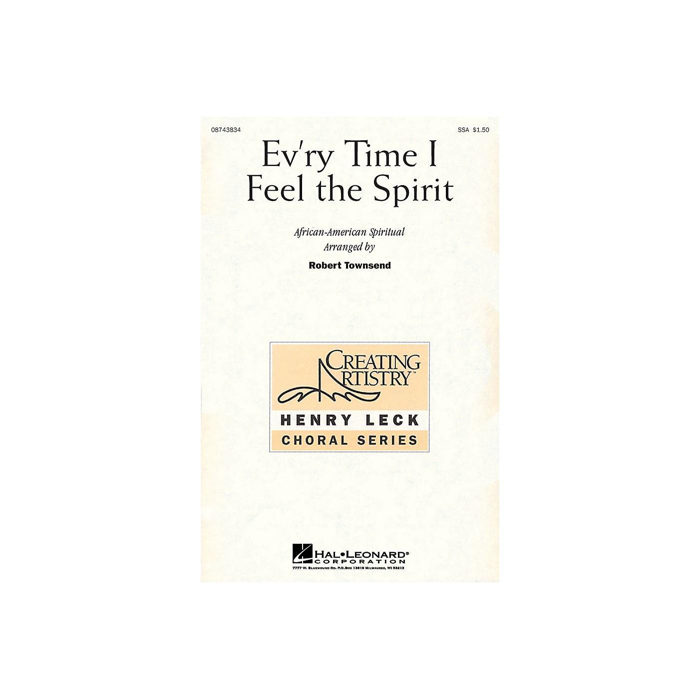 Hal Leonard Ev'ry Time I Feel the Spirit SSA arranged by Robert Townsend thumbnail