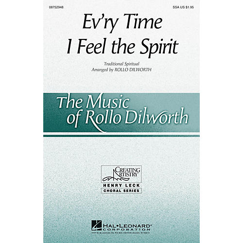 Hal Leonard Ev'ry Time I Feel the Spirit SSA arranged by Rollo Dilworth thumbnail