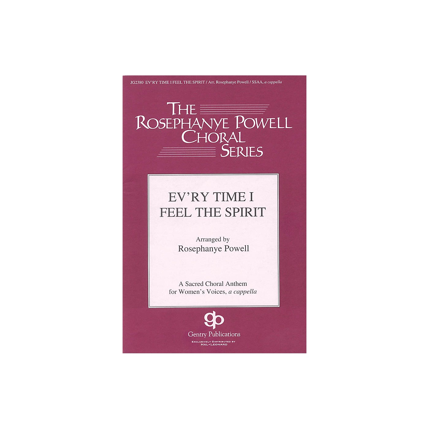 Gentry Publications Ev'ry Time I Feel the Spirit SSAA A Cappella arranged by Rosephanye Powell thumbnail