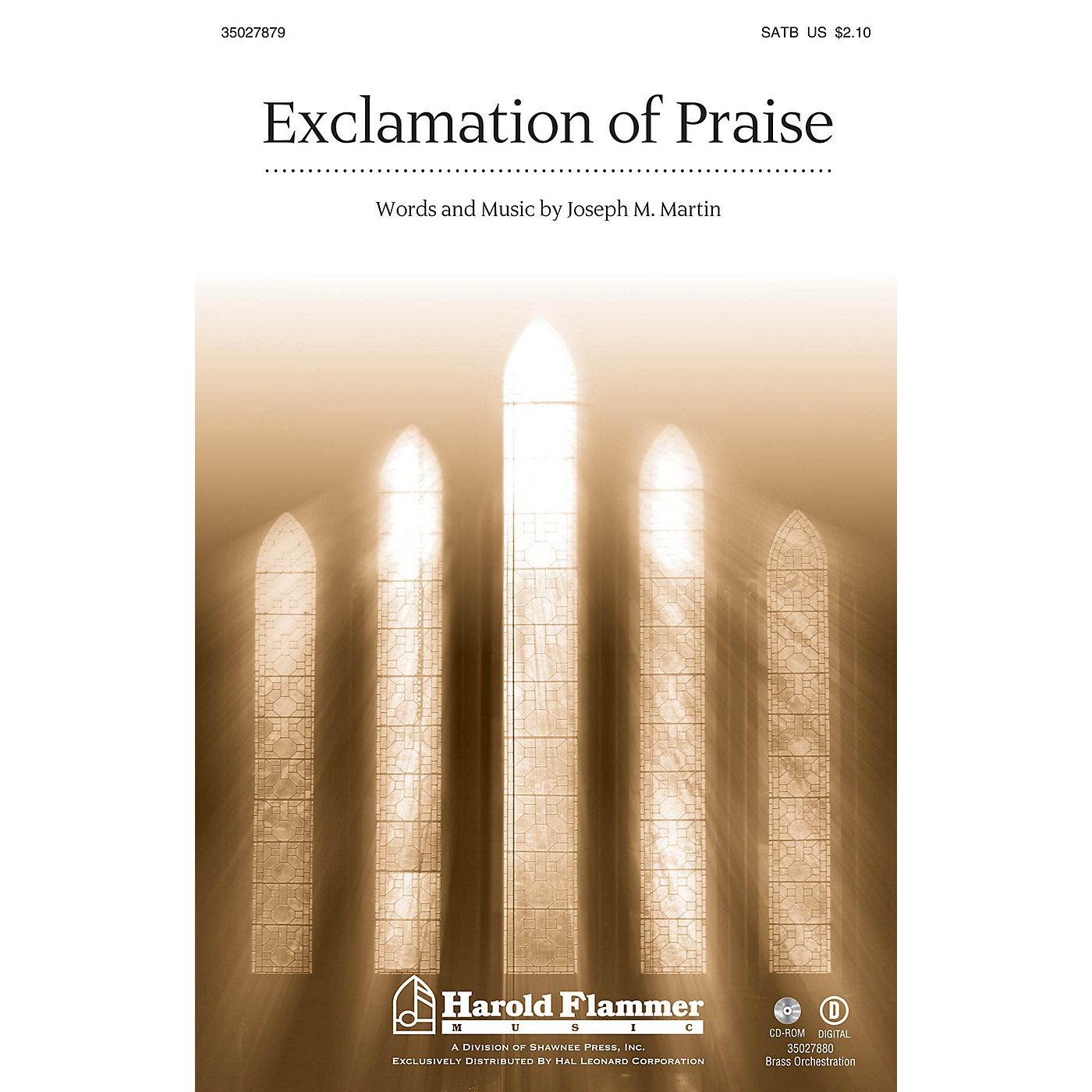 Shawnee Press Exclamation of Praise SATB composed by Joseph Martin thumbnail