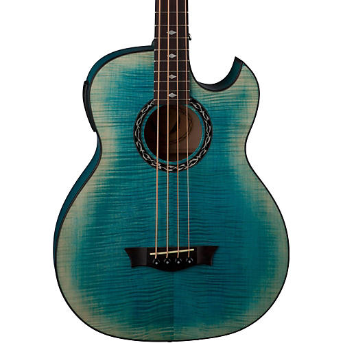 Dean Exhibition Flame Maple Acoustic-Electric Bass with Aphex thumbnail