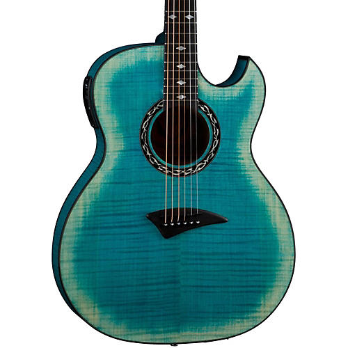 Dean Exhibition Flame Maple Acoustic-Electric Guitar with Aphex thumbnail