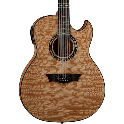 Dean Exhibition Quilt Ash 12-String Acoustic-Electric Guitar with Aphex thumbnail