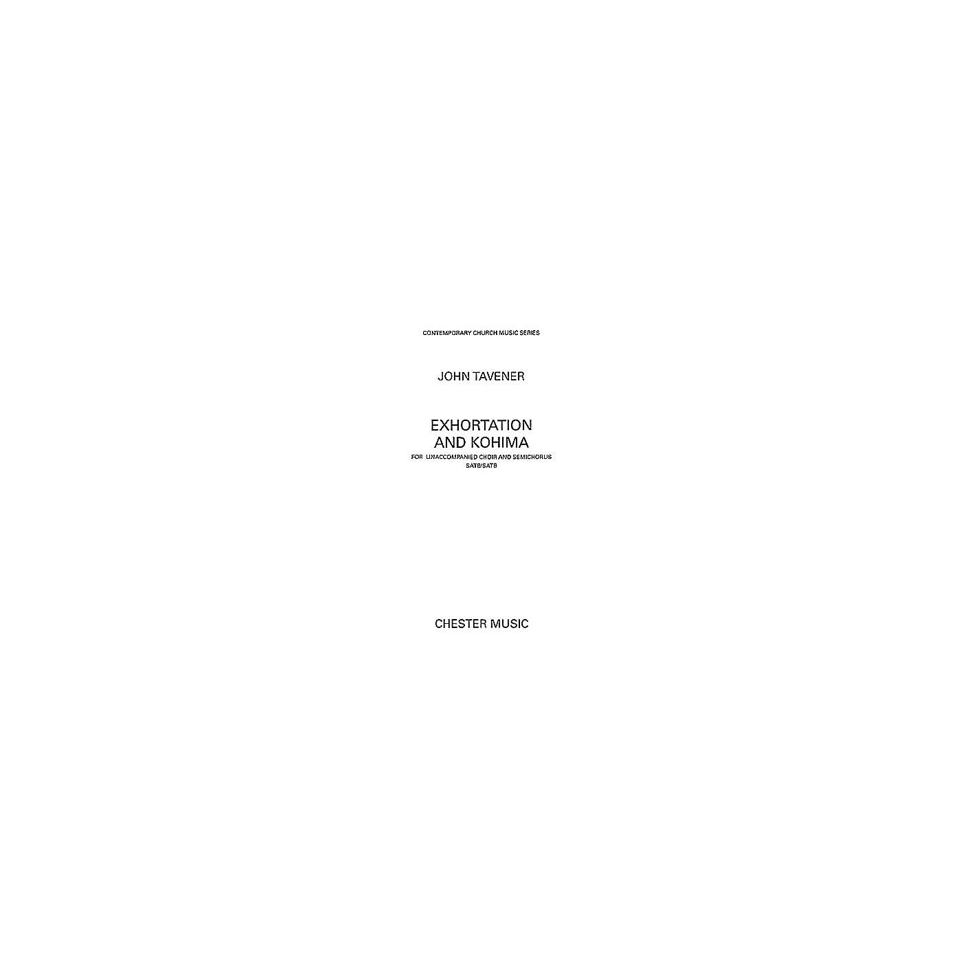 Chester Music Exhortation and Kohima SATB Composed by John Tavener thumbnail