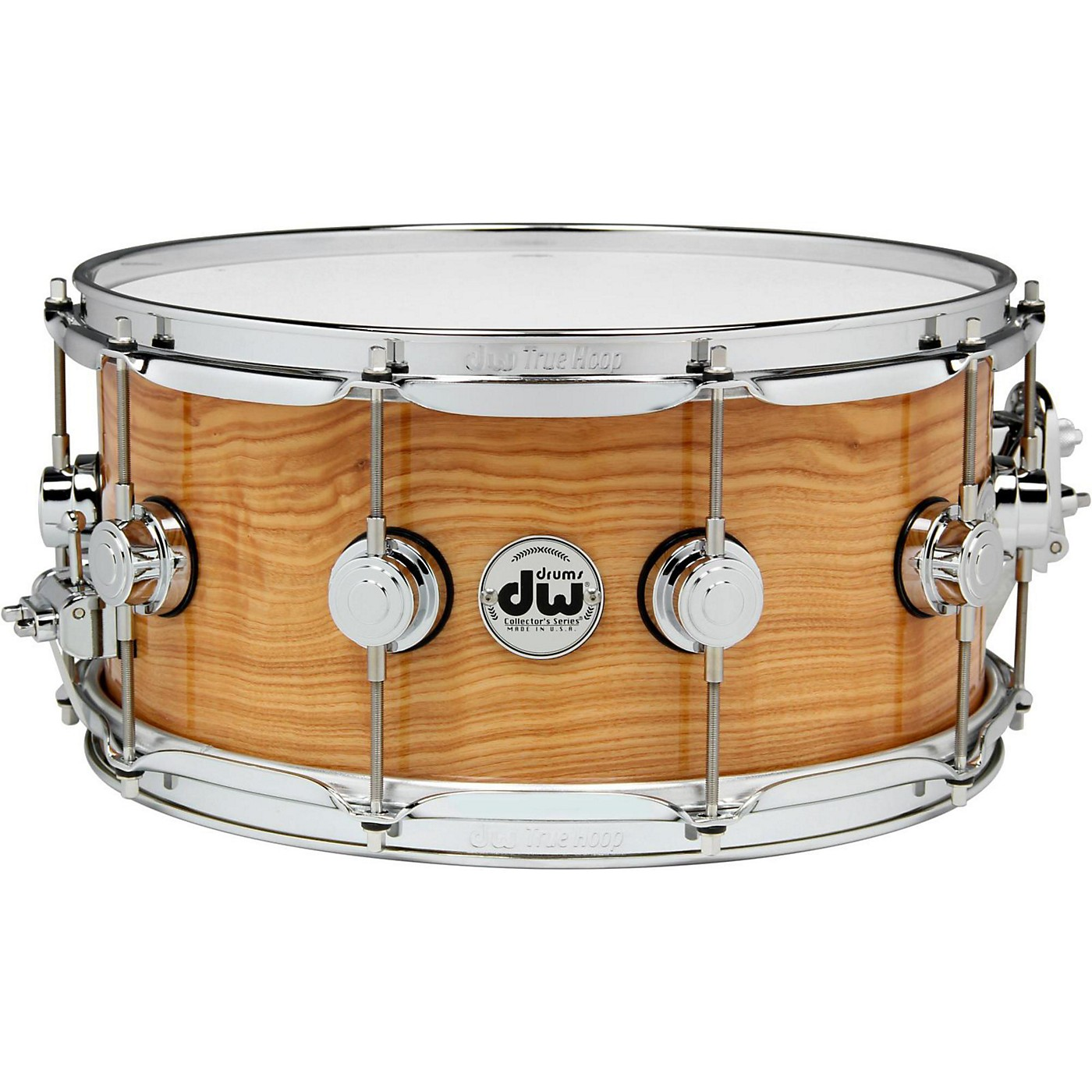 DW Exotic Figured Olive Ash Lacquer Snare thumbnail