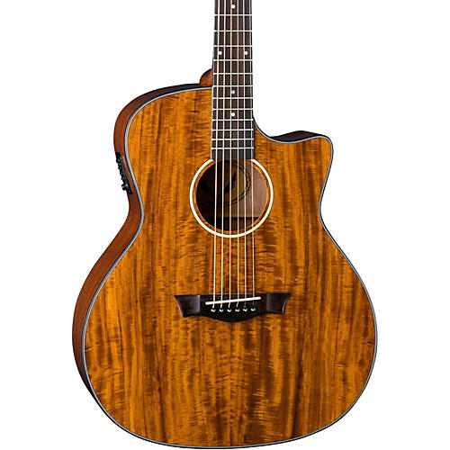 Dean Exotic Gloss Koa Cutaway Acoustic-Electric Guitar thumbnail