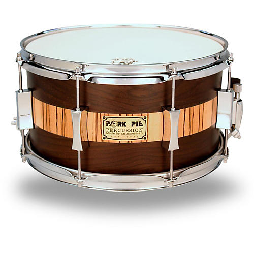 Pork Pie Exotic Rosewood Zebrawood Snare Drum thumbnail