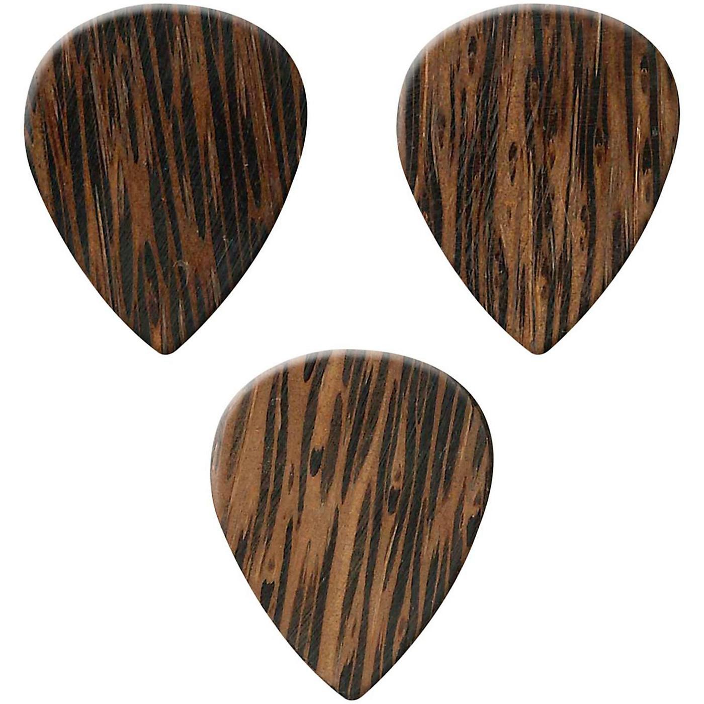 Clayton Exotic Wedge Wood Guitar Picks - 3 Pack thumbnail