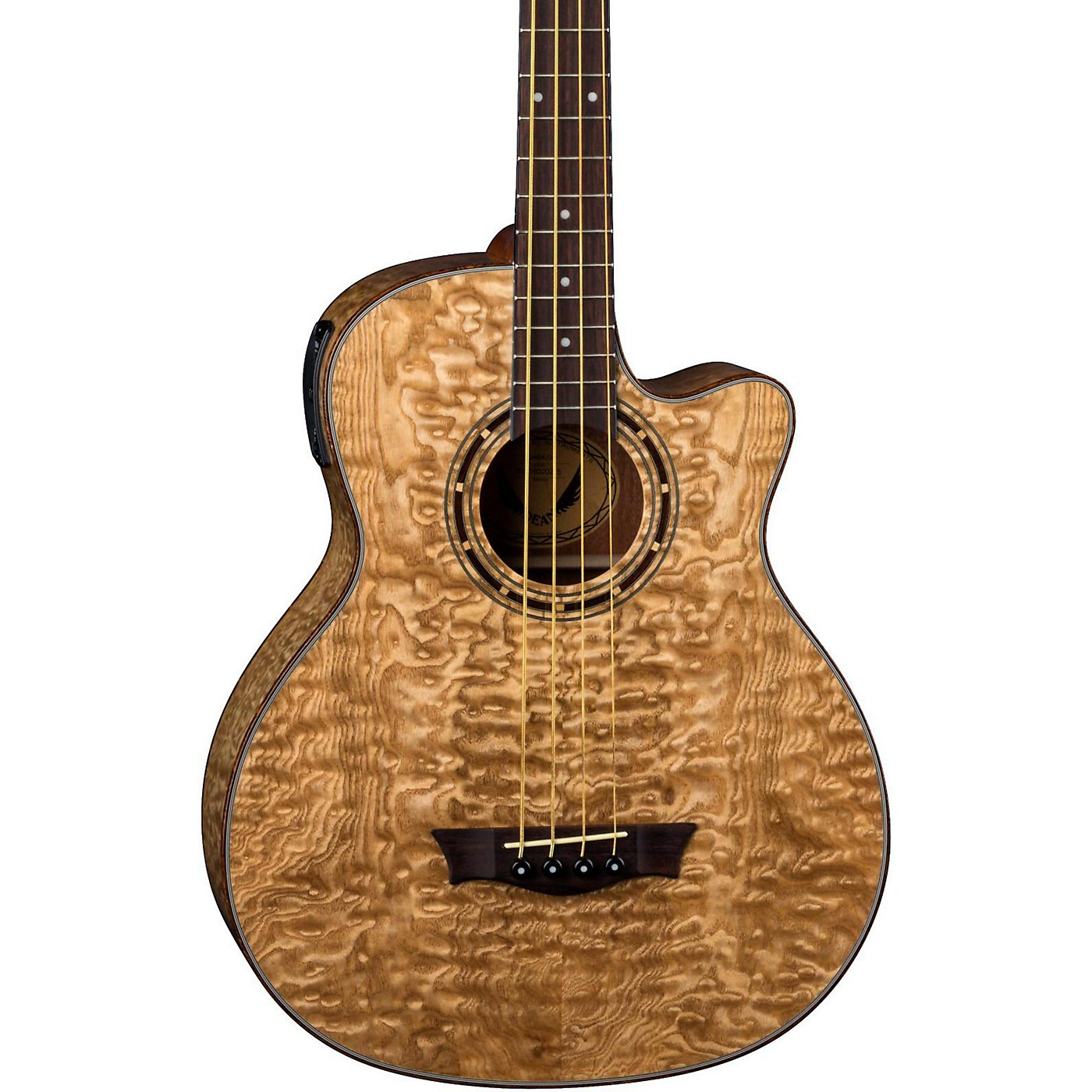Dean Exotica Quilted Ash Acoustic-Electric Bass Guitar thumbnail