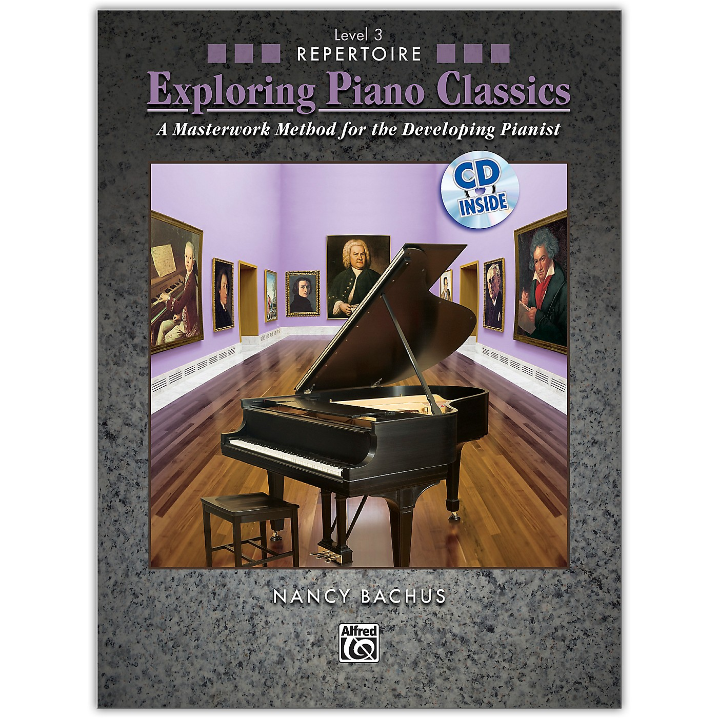 Alfred Exploring Piano Classics Repertoire, Level 3 Book & CD Early Intermediate thumbnail