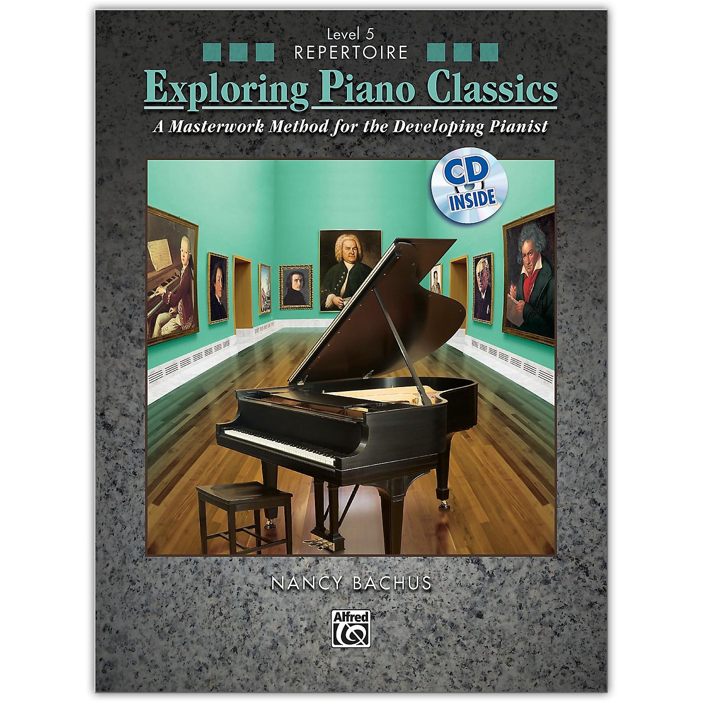 Alfred Exploring Piano Classics Repertoire, Level 5 Book & CD Intermediate / Late Intermediate thumbnail