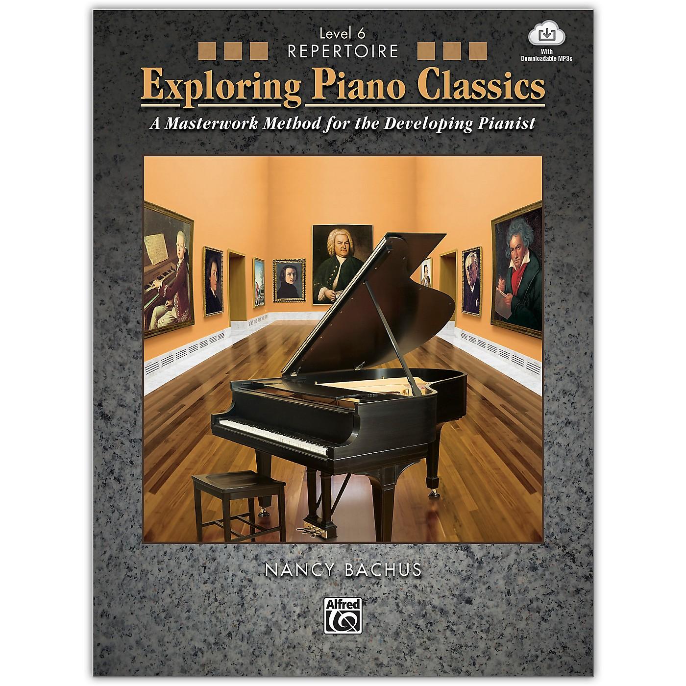 Alfred Exploring Piano Classics Repertoire, Level 6 Book & Online Audio Late Intermediate thumbnail