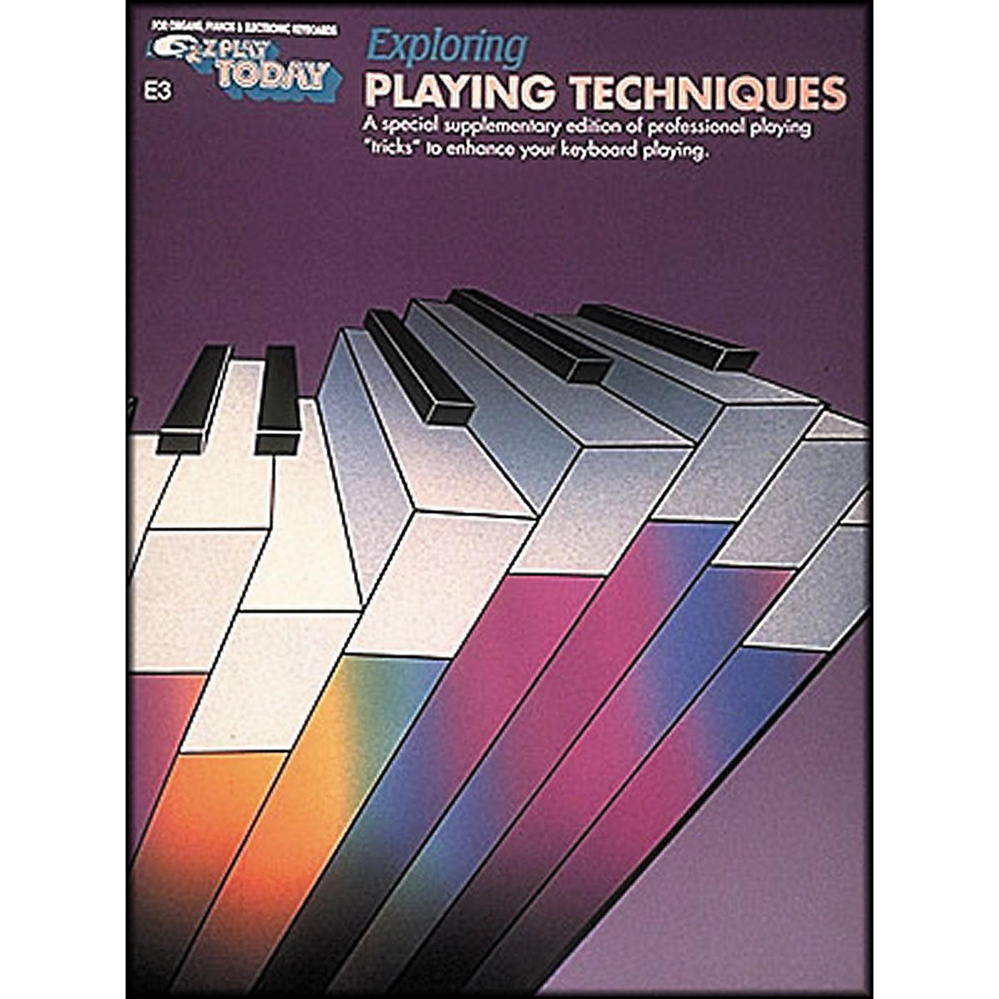 Hal Leonard Exploring Playing Techniques E3 E-Z Play thumbnail