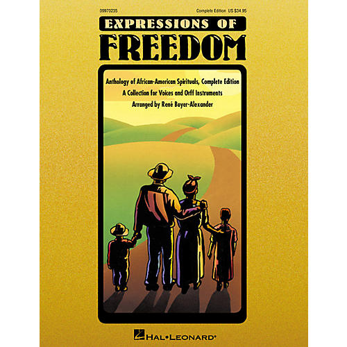 Hal Leonard Expressions Of Freedom Complete (Anthlogy of African American Spirituals) by Rene Boyer-Alexander (Orff) thumbnail