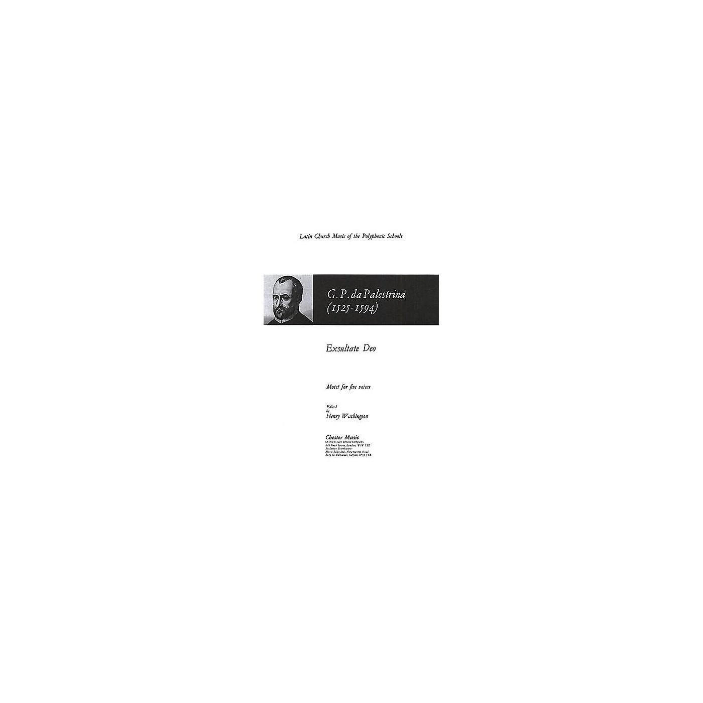 Chester Music Exsultate Deo SAATB Composed by Giovanni Pierluigi da Palestrina thumbnail