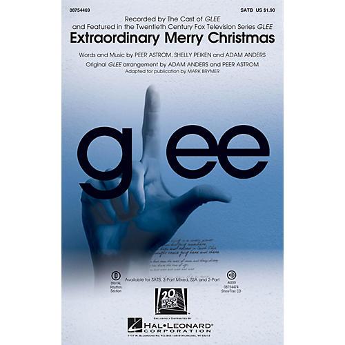 Hal Leonard Extraordinary Merry Christmas 3-Part Mixed by Glee Cast Arranged by Mark Brymer thumbnail