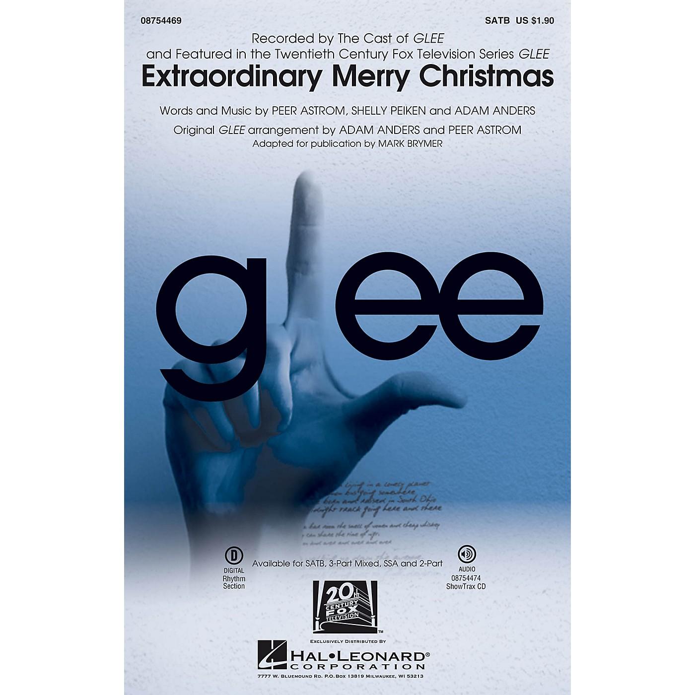Hal Leonard Extraordinary Merry Christmas SATB by Glee Cast arranged by Mark Brymer thumbnail