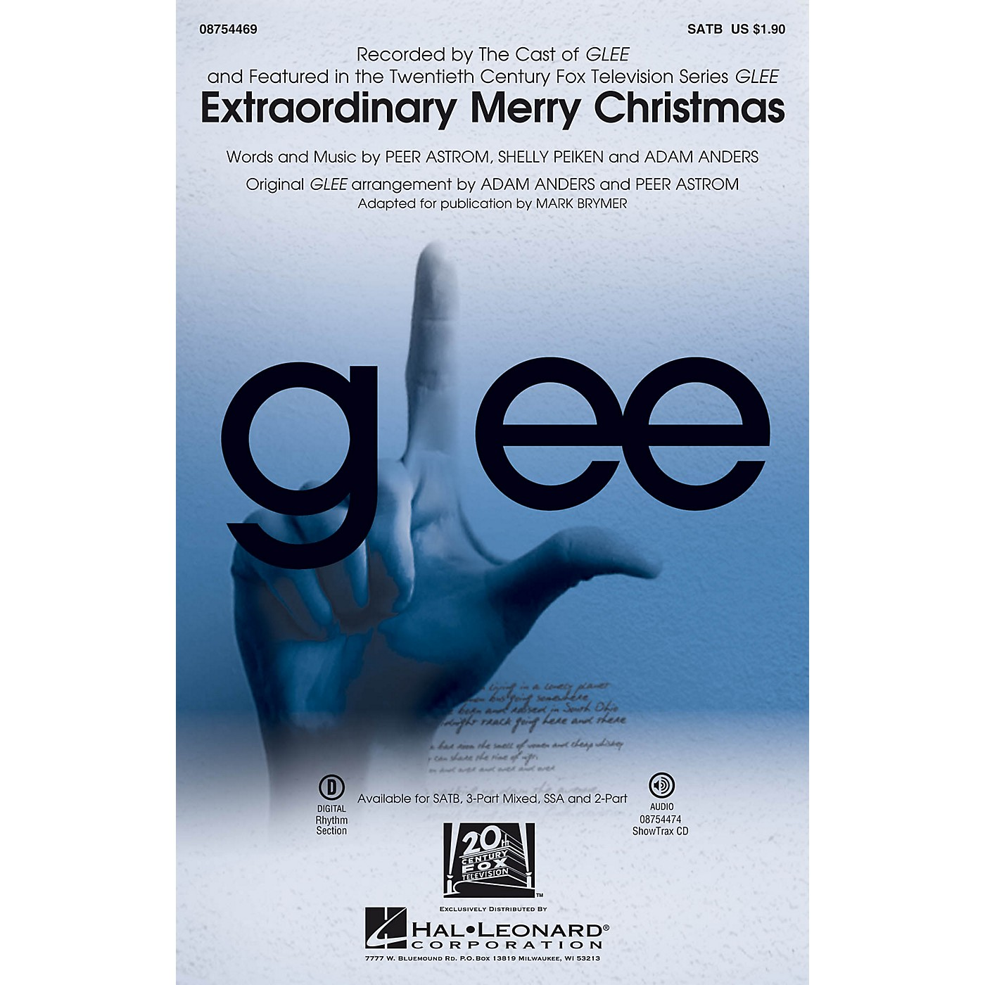Hal Leonard Extraordinary Merry Christmas SSA by Glee Cast Arranged by Mark Brymer thumbnail