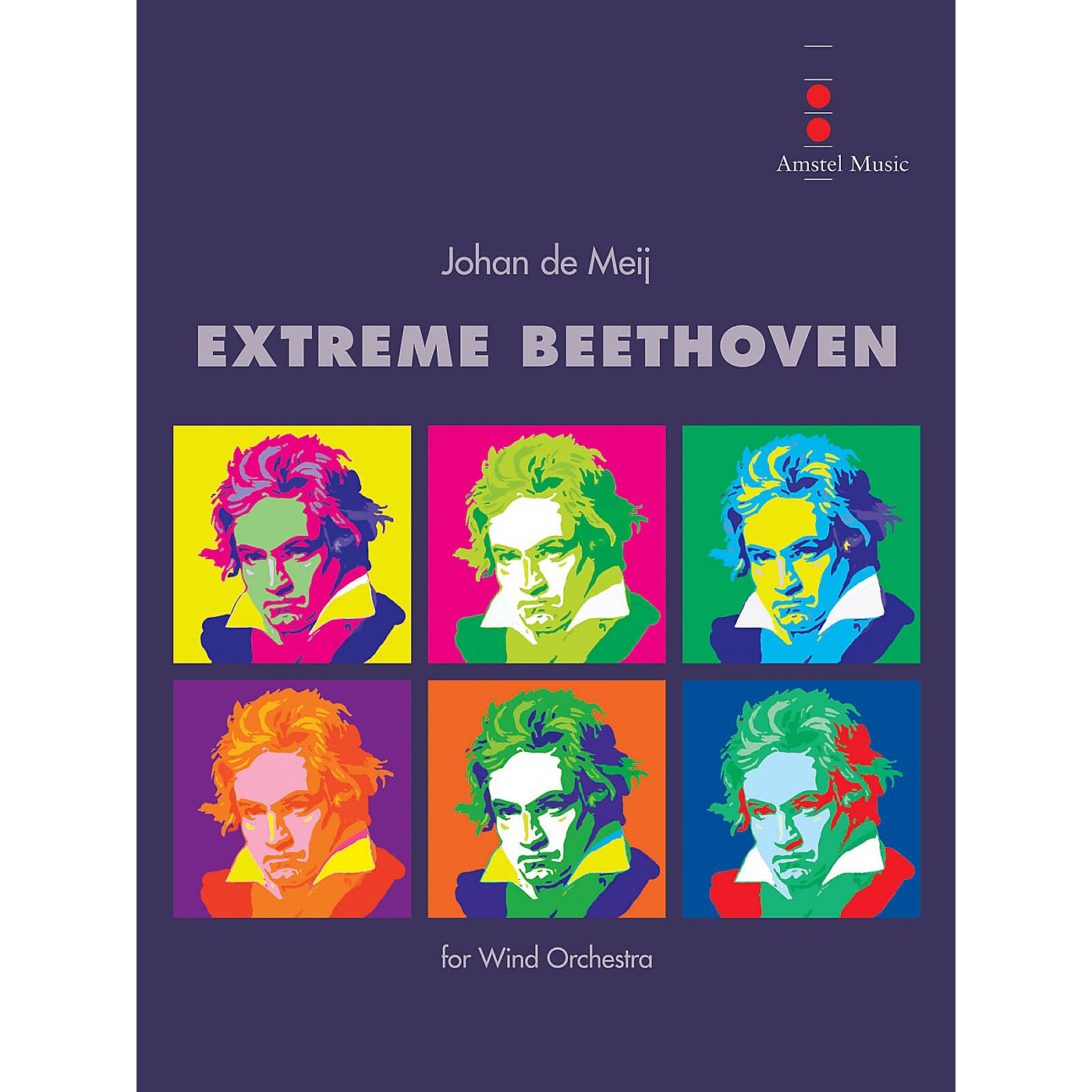 Amstel Music Extreme Beethoven (Score Only) Concert Band Level 5 Composed by Johan de Meij thumbnail