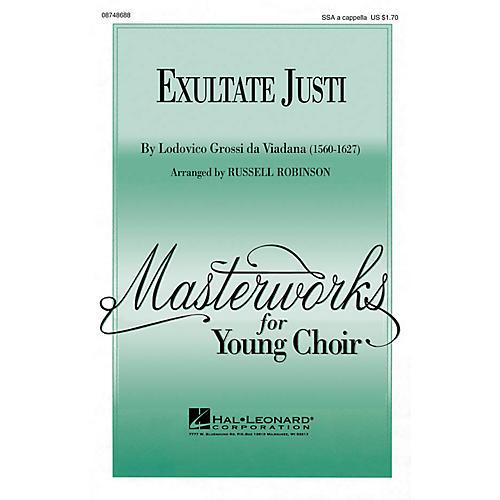 Hal Leonard Exultate Justi SSA A Cappella arranged by Russell Robinson thumbnail