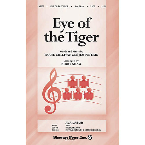 Shawnee Press Eye of the Tiger Studiotrax CD Arranged by Kirby Shaw thumbnail